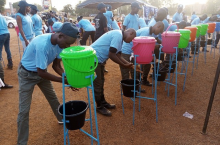 Handwashing during Global Handwashing Day in Ouagadougou