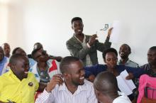 A WASH media training session in Kabarole District in 2018