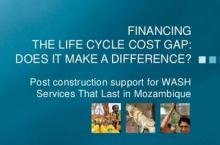 Front page power point presentation Financing the Life-cycle cost gap: does it make a difference?
