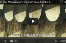 Screen capture of video on life cycle costs of a latrine in Mozambique