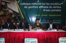 Colloque national sur les  modeles de gestion efficace du service d'eau potable
