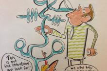 Comic on innovation in water sector by Michiel van de Pol of Comic House
