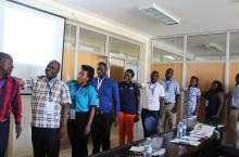 Participants take part in the communication skills training