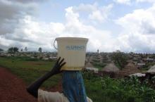 Data collection in refugee camp Bambasi, Ethiopia