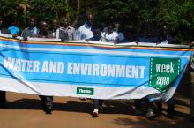 The Uganda Water and Environment Week procession throug Entebbe Municipality