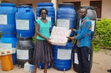 District Chief Executive of Asutifi North District provides materials against COVID-19