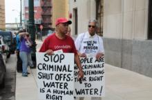 Protestors in Detroit