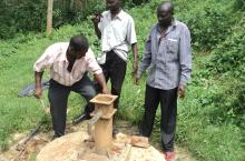 Hand Pump Mechanics at work in Kabarole District