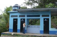 school latrines in Chinda, Honduras