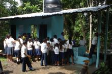 Handwashing at school in Chinda