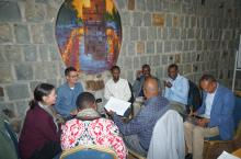 IRC Ethiopia and Uganda colleagues share experiences during a learning meeting in January, 2020, in Ethiopia.