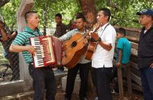 Mariachis en la inauguración de proyecto de agua