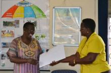 Jane Nabunnya Mulumba and Doreen Wandera, UWASNET's Exec.Director