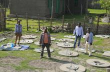 USAID Transform WASH Programme: Latrine slab construction in Shashego woreda, SNNPR, Ethiopia