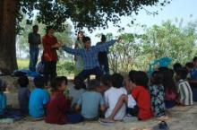 Nepal hygiene training for kids