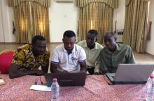 Staff of CLIP and their partners trying to analyse the data they collected in 2014