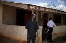 Francis Asare Kusi, Systems Manager of the Kuntanase Water Board, in his office in Kuntanase, Ashanti Region, Ghana