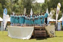 School children stage a performance at the Global Hand Washing Day event, 2018