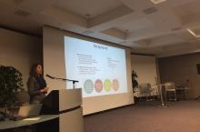 Kelly Latham presenting