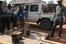 Checking out a water point in the Central African Republic