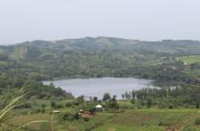 Crater lake in Kabarole District, Uganda