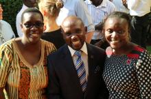 Jane Nabuunya IRC Uganda - Francis Muzinguzi of WaterAid Uganda - Cate Nimanya Water For People Uganda