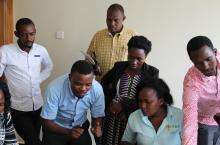 Members of the IWRM Thematic Working Group participate in a learning session in Mbarara, June 2018