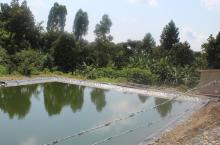 A water for production dam under construction in Karangura sub county