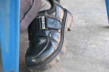 Right footwear for visiting rural water supply systems