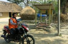 Jalabandhu comes to inspect a handpump