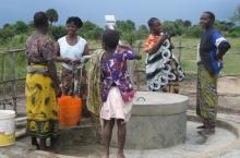 People around a water point