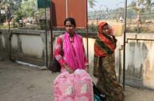 Woman in Bangladesh who has a small business in sanitary towels