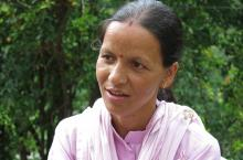 Sangeeta Ramola, the former Pradhan of Gawana