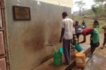 Tapping water in Karagwe district, north western Tanzania