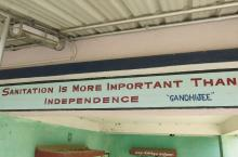 """Sanitation is more important than independence"" - Gandhiji"