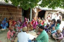 Community members in Samastipur district in Bihar identifying WASH needs for proper planning