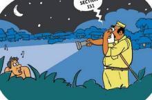 Indian anti-open defecation cartoon