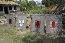 Concrete toilet slabs in India