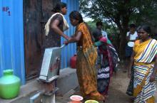 Women fetching water in India