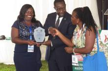 Lydia Biira and Lydia Mirembe receive IRC's award