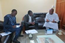 IRC meets the new president of Burkina Faso