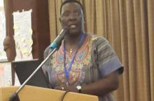 Jane Nabunnya at the Unclogging the Blockages in Sanitation: East and Southern Africa Action Exchange