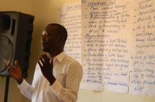 Jimmy Otim participating in a learning event