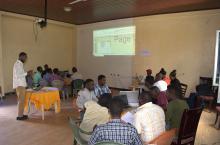 Participants at the SWS woreda workshop in Ethiopia