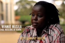 Screenshot of the video on the Lifestraw project in Kenya
