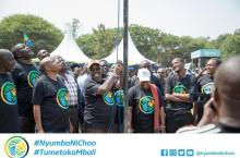 Raising the flag for the #NyumbaNiChoo campaign