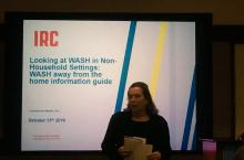 Marielle Snel presenting about WASH away from home at UNC 2016