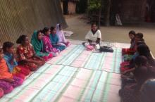 Menstrual hygiene session
