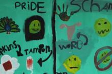 Pride and Shame: Children's painting on menstrual hygiene