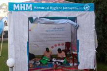 Menstrual hygiene tent